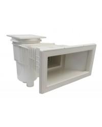 Skimmer cu deschidere standard, gat extins si capac patrat - pentru beton